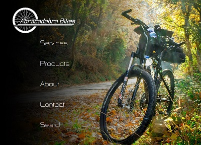 Screenshot of the Abracadabra Bikes website